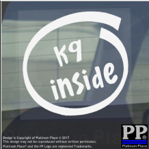 1 x K9 Inside-Window,Car,Van,Sticker,Sign,Vehicle,Doctor,Who,Dog,Time,Lord,Hero